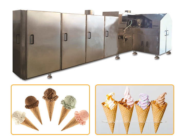 automatic sugar cone baking machine