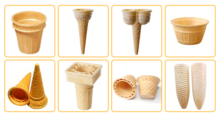 wafer cup cone machine application
