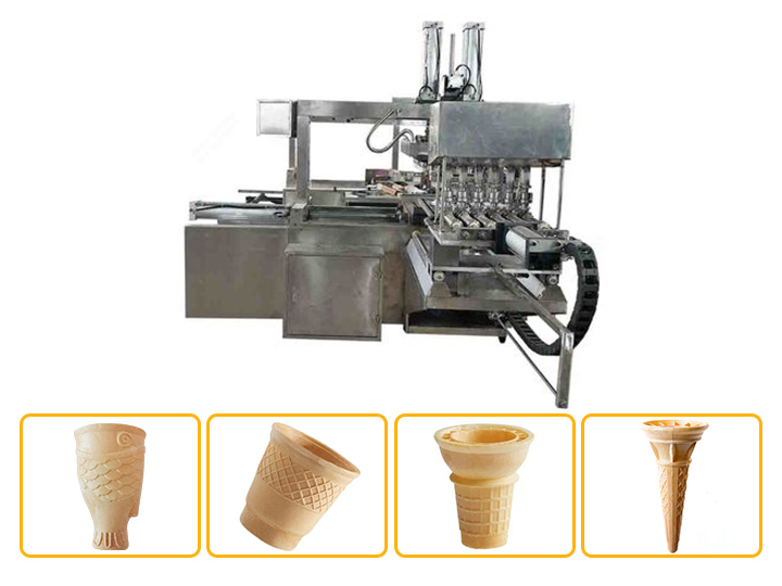 wafer cup cone machine