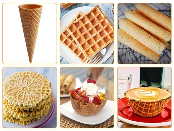 waffle cone machine final product