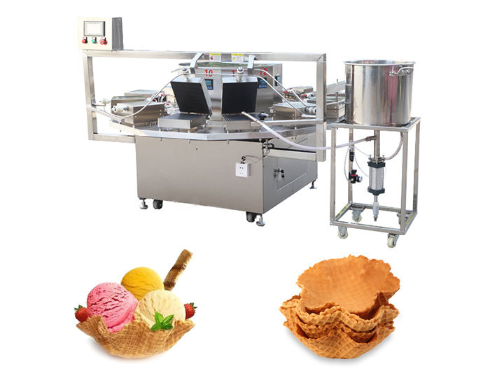ice cream waffle basket machine