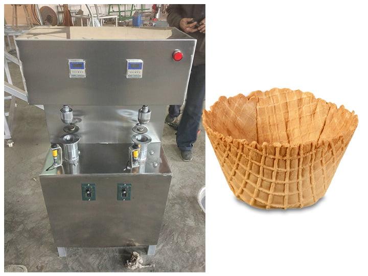 waffle basket forming machine
