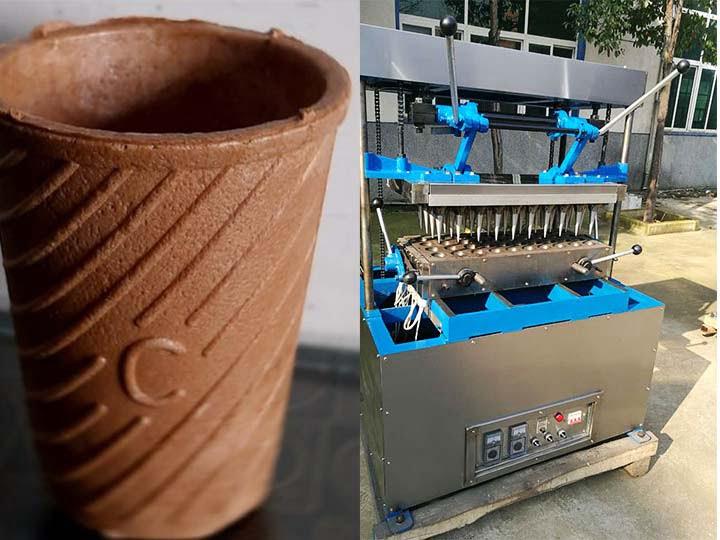 wafer tea cup making machine