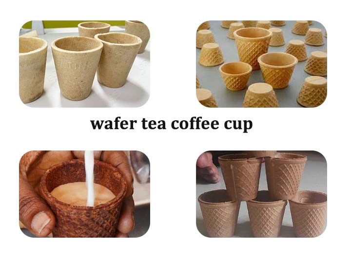 wafer tea cup