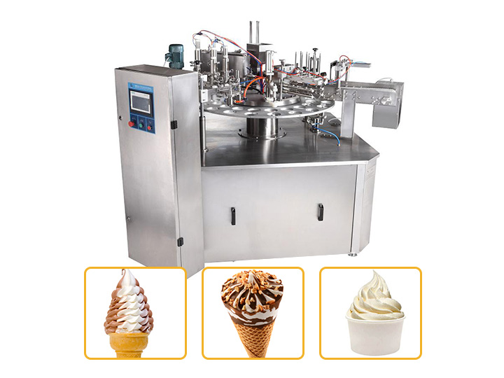 commercial ice cream filling and sealing machine