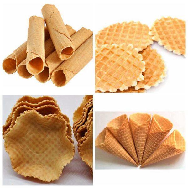 various crisp ice cream cones